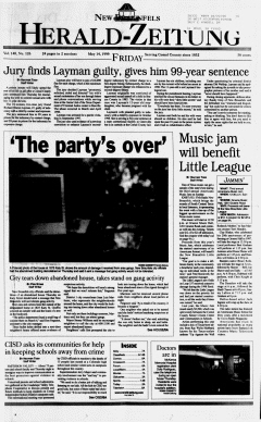 New Braunfels Herald Zeitung, May 14, 1999, Page 1