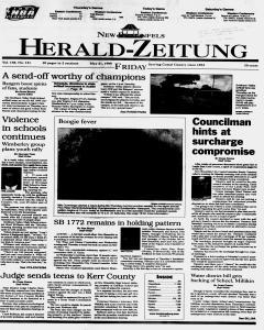 New Braunfels Herald Zeitung, May 21, 1999, Page 1