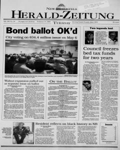 New Braunfels Herald Zeitung, February 15, 2000, Page 1