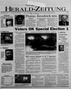 New Braunfels Herald Zeitung, May 07, 2000, Page 1