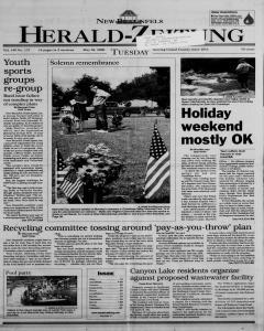 New Braunfels Herald Zeitung, May 30, 2000, Page 1