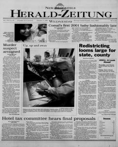 New Braunfels Herald Zeitung, January 03, 2001, Page 1