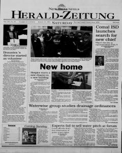 New Braunfels Herald Zeitung, January 13, 2001, Page 1