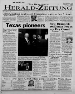 New Braunfels Herald Zeitung, January 17, 2001, Page 1