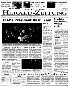 New Braunfels Herald Zeitung, January 21, 2001, Page 1