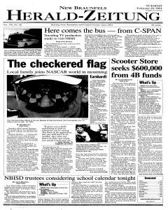 New Braunfels Herald Zeitung, February 20, 2001, Page 1
