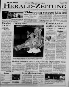 New Braunfels Herald Zeitung, May 05, 2001, Page 1