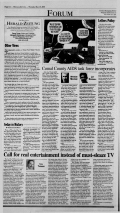 New Braunfels Herald Zeitung, May 10, 2001, Page 6