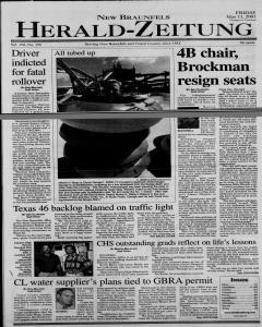 New Braunfels Herald Zeitung, May 11, 2001, Page 1
