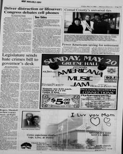 New Braunfels Herald Zeitung, May 11, 2001, Page 9