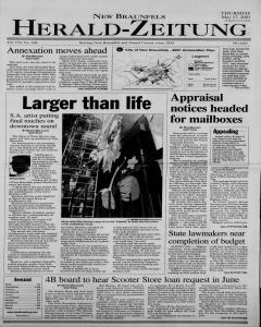 New Braunfels Herald Zeitung, May 17, 2001, Page 1
