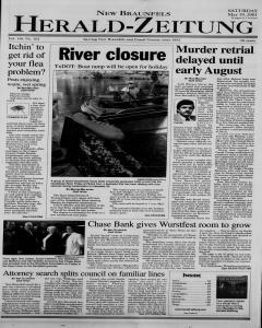 New Braunfels Herald Zeitung, May 19, 2001, Page 1