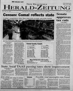 New Braunfels Herald Zeitung, May 24, 2001, Page 1