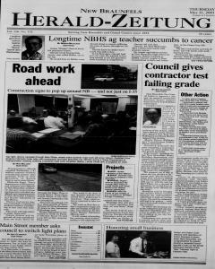 New Braunfels Herald Zeitung, May 31, 2001, Page 1