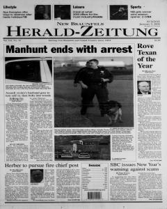 New Braunfels Herald Zeitung, January 05, 2003, Page 1