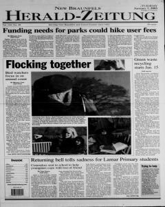 New Braunfels Herald Zeitung, January 07, 2003, Page 1
