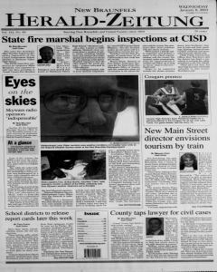 New Braunfels Herald Zeitung, January 08, 2003, Page 1