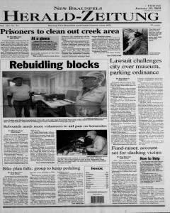 New Braunfels Herald Zeitung, January 10, 2003, Page 1