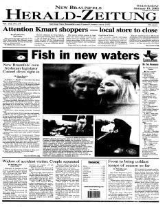 New Braunfels Herald Zeitung, January 15, 2003, Page 13