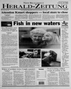 New Braunfels Herald Zeitung, January 15, 2003, Page 1
