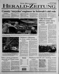 New Braunfels Herald Zeitung, January 16, 2003, Page 1