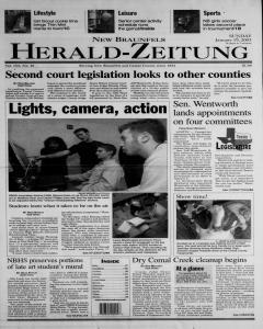 New Braunfels Herald Zeitung, January 19, 2003, Page 1