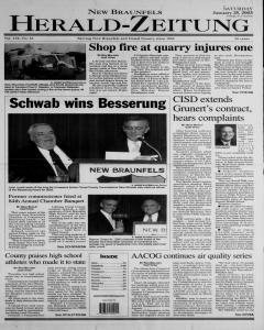 New Braunfels Herald Zeitung, January 25, 2003, Page 1