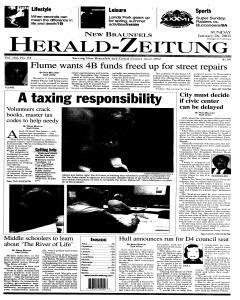 New Braunfels Herald Zeitung, January 26, 2003, Page 1