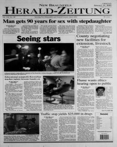 New Braunfels Herald Zeitung, January 31, 2003, Page 1