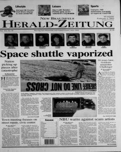 New Braunfels Herald Zeitung, February 02, 2003, Page 1