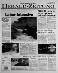 New Braunfels Herald Zeitung, February 13, 2003, Page 1