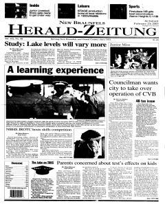 New Braunfels Herald Zeitung, February 23, 2003, Page 1