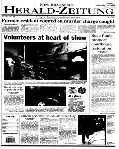 New Braunfels Herald Zeitung, February 28, 2003, Page 1