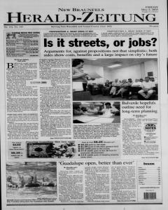 New Braunfels Herald Zeitung, May 02, 2003, Page 1
