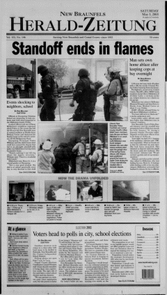 New Braunfels Herald Zeitung, May 03, 2003, Page 1