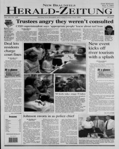 New Braunfels Herald Zeitung, May 08, 2003, Page 1