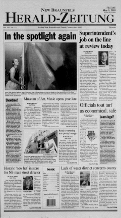 New Braunfels Herald Zeitung, May 09, 2003, Page 1