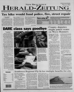 New Braunfels Herald Zeitung, May 21, 2003, Page 1