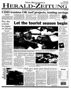 New Braunfels Herald Zeitung, May 23, 2003, Page 1
