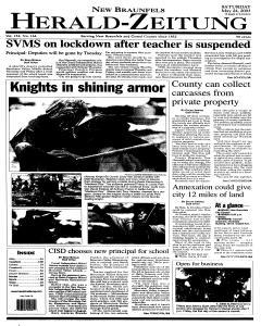 New Braunfels Herald Zeitung, May 24, 2003, Page 1