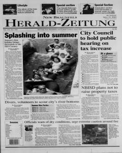 New Braunfels Herald Zeitung, May 25, 2003, Page 1