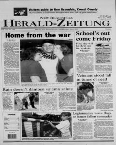 New Braunfels Herald Zeitung, May 27, 2003, Page 1