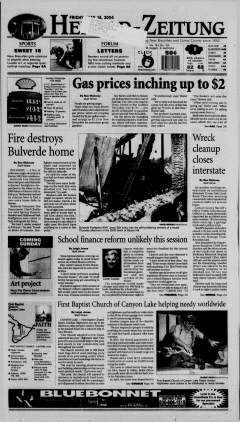 New Braunfels Herald Zeitung, May 14, 2004, Page 1