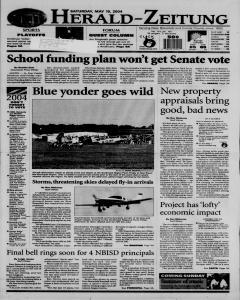 New Braunfels Herald Zeitung, May 15, 2004, Page 1