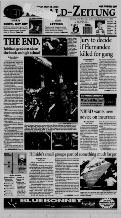 New Braunfels Herald Zeitung, May 28, 2004, Page 1