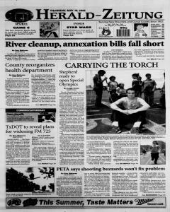 New Braunfels Herald Zeitung, May 19, 2005, Page 1