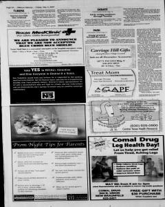 New Braunfels Herald Zeitung, May 04, 2007, Page 8