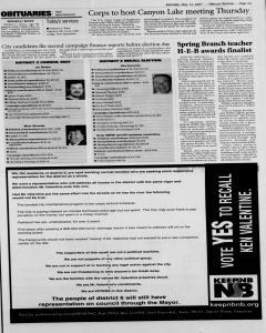 New Braunfels Herald Zeitung, May 12, 2007, Page 3
