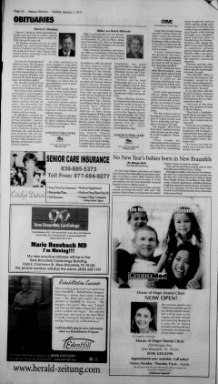New Braunfels Herald Zeitung, January 02, 2011, Page 6