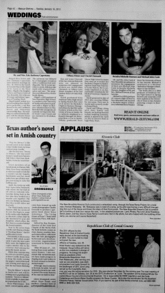 New Braunfels Herald Zeitung, January 16, 2011, Page 20